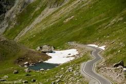 Schmelzwassersee unweit der Passstraße zum Col Agnel auf italienischer Seite