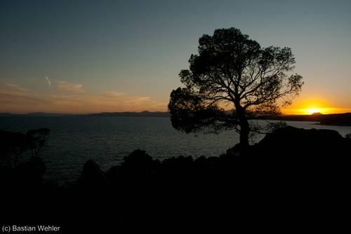 Sonnenuntergang am Cap du Dramont