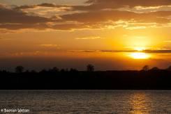 Sonnenuntergang am Ratzeburger See im Frühling 2012