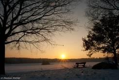 Sonnenuntergang zur Wintersonnenwende 2010
