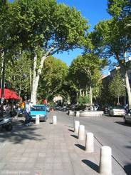 Straße in der Innenstadt von Aix-en-Provence