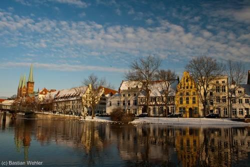 Winter im Malerwinkel an der Lübecker Obertrave
