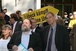 Wolfgang Baasch und Peter Eichstädt (beide SPD-Landtagsabgeordnete)